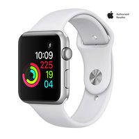 Apple Watch Nike+ 42mm Silver Aluminium Case With Flat Silver White Sport Band