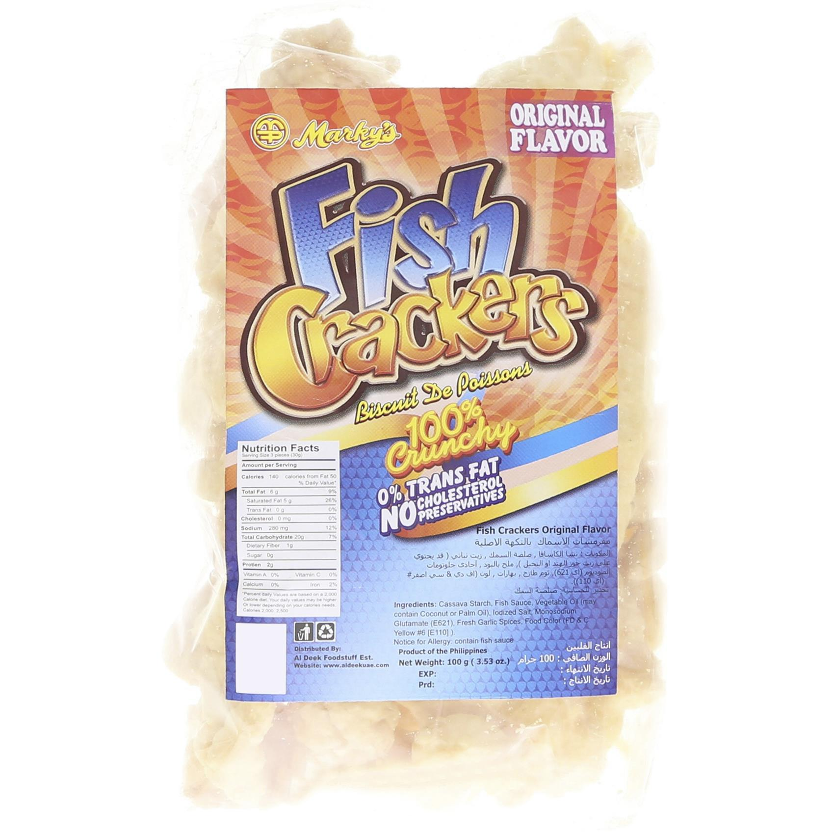 MARKYS FISH CRACKERS ORIGNAL 100G