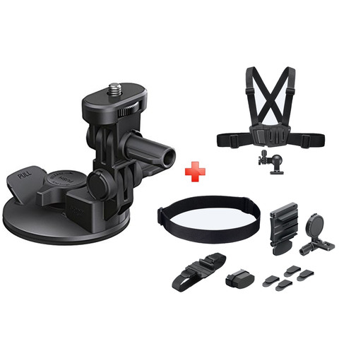 Sony-Action-Camera-Suction-Cup-VCT-SCM1-+-Head-Mount-Kit-Blt-UHM-1-+-Chest-Mount-Harness-AKA-CMH1
