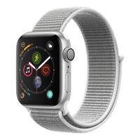Apple Watch Series-4 GPS + Cellular 44mm Silver Aluminium Case with Seashell Sport Loop (MTVT2AE/A)