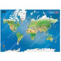 Children Illustrated World Map English
