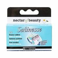 Nectar Of Beauty Satinesse Lames De Rasoir X4