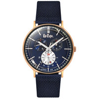 Lee Cooper Men's Watch Multifunction Display Blue Dial Blue Pure Metal Bracelet - LC06380.490