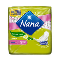 Nana Ladies Pads Ultra Natural Normal 14 Napkins