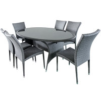 Victoria Aluminium Wicker Dining Set 7Pcs (Delivered In 7 Business Days)