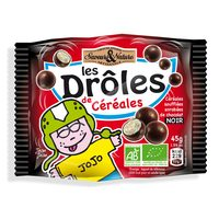 Les Droles 3-Cereals Ball Dark Chocolate 45g