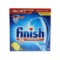 Finish All In1 Powerball Lemon Sparkle 14 Tab's