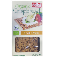 Delba Organic Crispbread Spelt-Onion 200g