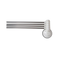 Suction Towel Bar Ref 1987 White And Silver
