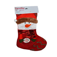 Snowman Deco  Red Stocking 50.8CM