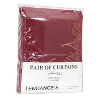 Tendance's Curtain Pair Burgundy 145X245