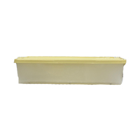 Rolling Storage Box With Casters Yellow 35L