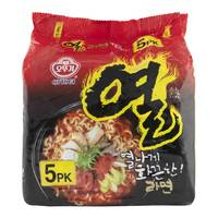 Ottogi Korean Style Instante Noodles Yeul Ramen 120gx5