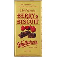 Whittaker's Berry & Biscuit Milk Chocolate Bar 200g