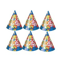 Koklio Hats Happy Birthday Blue 6 Pieces