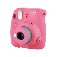 Fujifilm Instant Film Camera Instax Mini 9 Pink  + Film + Accordion Frame