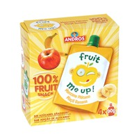Andros Fruit Me Up Apple Banana 4 x 90 g