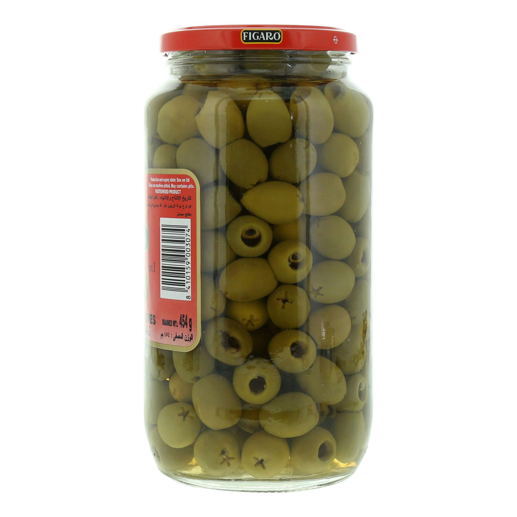 FIGARO PITTED GREEN OLIVES 935GR