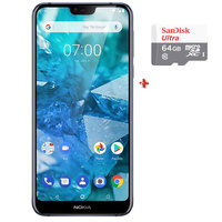 Nokia 7.1 32Gb Dual Sim 4G Blue + Micro Sd 64Gb