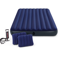 Intex Bed Downy Blue Queen Set 4Pc
