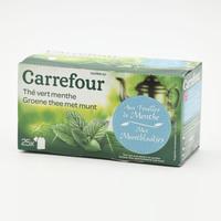 كارفور شاي أخضر بالنعناع × 25