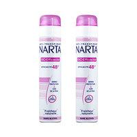 Narta Deodorant For Women Anti-Transpirant Natural Bio Efficacy Atomizer 200ML X2