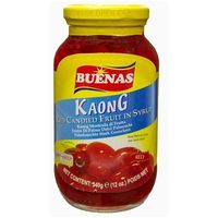 Buenas Kaong Red Candied Fruit n' Syrup 340g