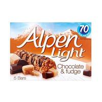 Alpen Light Bar Chocolate & Fudge 21GR X 5