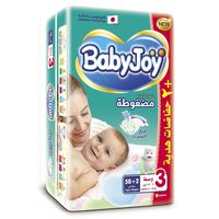 Baby Joy Stretch Medium 58 Diapers+ 2 Free