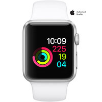 Apple Watch Series-1 38mm Silver Aluminium Case With White Sport Band