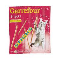 Carrefour Cat Snacks Salmon Sticks 5GR X6