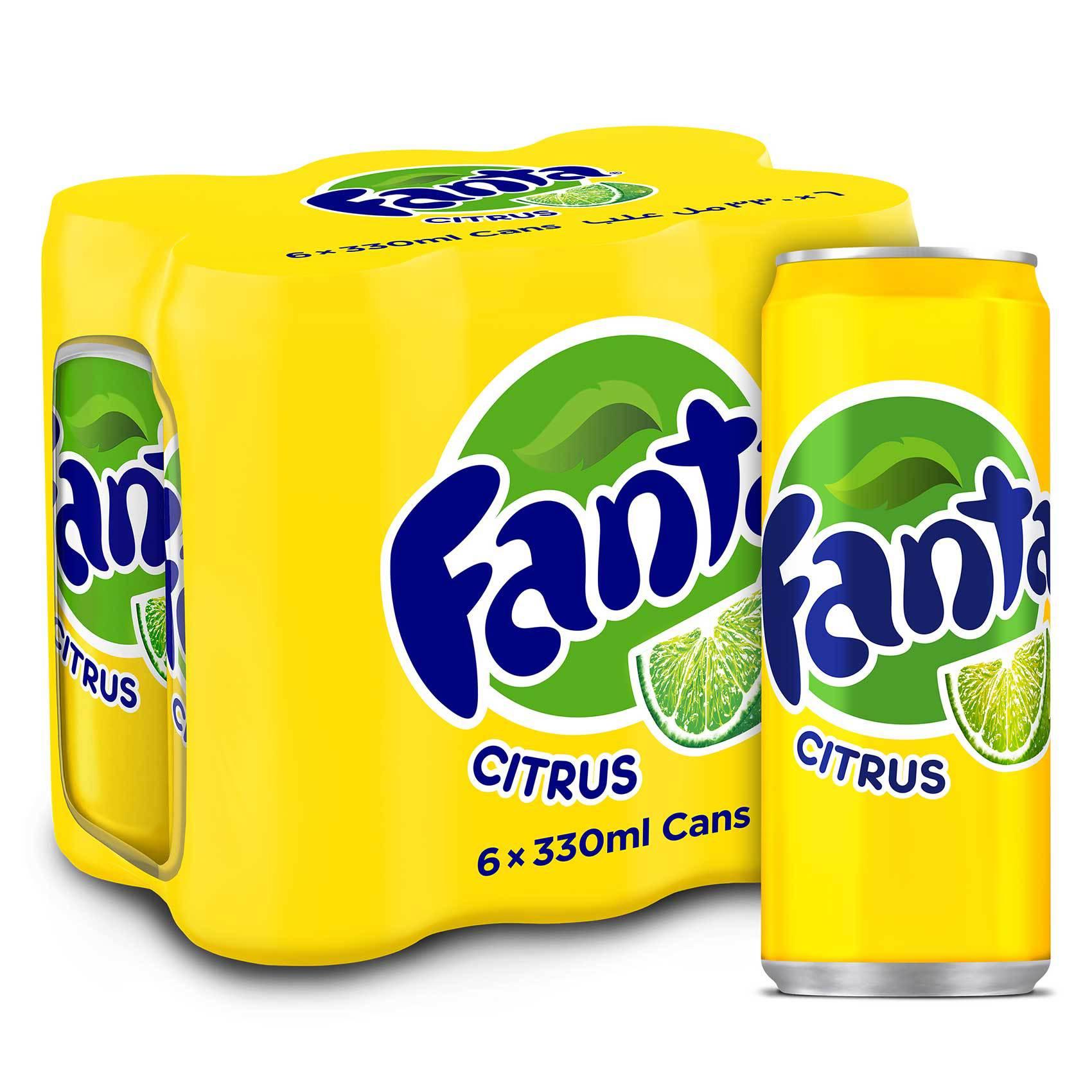 FANTA CITRUS CAN 330MLX6
