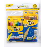 Bic Color Felt+Color Pencil+Crayons