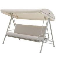 Steel Textline Swing Bed 237.5X133X168