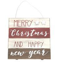 Christmas Mdf Decorative Wall Plaque 25Cm