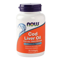 Now Cod Liver Oil 1000mg 90 Softgels