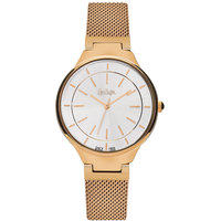 Lee Cooper Women's Analog Rose Gold Case Rose Gold Super Metal Strap Silver Dial -LC06336.430