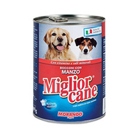 Miglior Gatto Dog Food Chunks Beef Wet Food 405GR