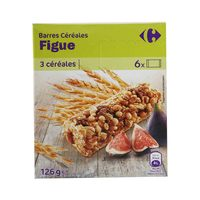 Carrefour Cereal Bar Fig 125 Gram