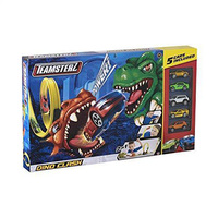 Teamsterz Dino Clash 2 In 1 Playset With 5 Cars