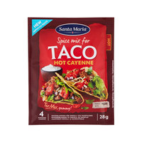 Santa Maria Spice Mix for Taco Hot Cayenne 28g