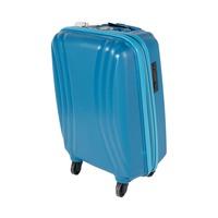 تراك هاي حقيبة سفر خامة صلبة 4 عجلات مقاس 19 انش لون أزرق