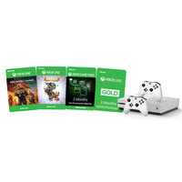 Microsoft Xbox One S 1TB  Console+Gears of War+Rare Replay DLC Games+3 Months Gold+2 Wireless Controllers