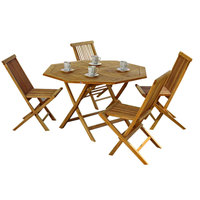 Paradiso Bali Teak Octagonal Table+ 4 Chairs (Delivered In 7 Business Days)