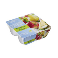 Carrefour Mashed Fruit Apple & Perry 100GR X 4