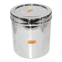 Raj Steel Rnd Storage Container 1L