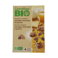 Carrefour Bio Crispy Muesli Cereals with Chocolate and Quinoa 500g