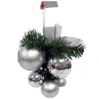 Christmas Grape Shiny/Matt Ball Silver 60/40Mm