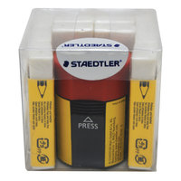 Staedtler Eraser 10P+Tub Sharpener
