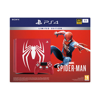 Sony PS4 Jet Black, 1 TB With 1 Controller And Spider Man Game